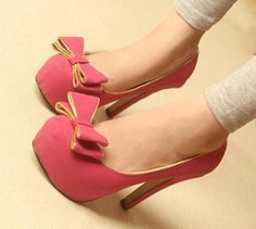 Cute pink high heels with Bow Cute Heels, Shoes Heels, Pumps, Pink High Heels, Stylish Sandals, Beautiful Heels, Comfy Shoes, Pretty Shoes, Adjustable Bracelet