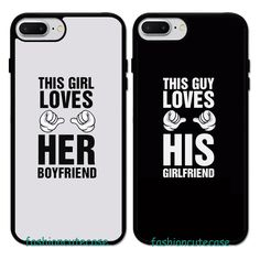 THIS GIRL LOVES HER BOYFRIEND Couple Rubber Phone Case Cover For iPhone 5 6S 7 . #UnbrandedGeneric