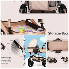 Folding Baby Carriage Fully Adjustable Infant Stroller Pram Pushchair Design adds safety Baby Carriage, Baby Strollers, Infant, Safety, Places, Design, Baby Buggy, Baby Prams, Security Guard