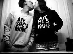 Aye shes mine and aye he's mine shirts -gettin these someday<3