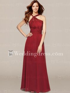 Impressions Chiffon Y-Neck Bridal Party Gowns BR205 $207.99 Bridesmaid Dresses