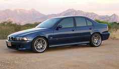 BMW E39 M5 1999 saloon blue