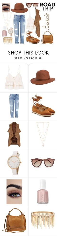 """Is that suede? It's suede."" by tiny-dancer-morgan ❤ liked on Polyvore featuring MANGO, Rusty, Miss Selfridge, Michael Kors, Dorothy Perkins, Natalie B, Essie, Urban Expressions, Jenny Packham and roadtrip"