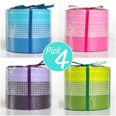 Japanese masking tape, re-positionable, washi tape.  Looks neat on wrapping paper!
