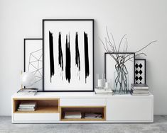 Abstract Print Minimalist Art Abstract Contemporary Black and White Art Printable Modern Art Print Downloadable Modern Art Nordic Print