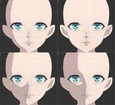 3d Model Character, Character Modeling, Character Design, Anime Drawings Sketches, Animal Sketches, Eye Drawings, Pencil Drawing Tutorials, Art Tutorials, Shading Faces