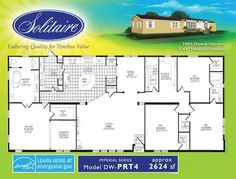 Ious Double Wide Mobile Home Floorplans Solitaire Homes This Is