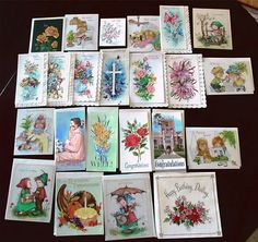 FOR SALE IN OUR EBAY STORE....Lot of 23 Vintage Assorted Greeting Cards     Unused Clean Condition
