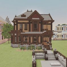 Careful routed minecraft houses this website Minecraft House Plans, Minecraft Mansion, Minecraft Houses Survival, Easy Minecraft Houses, Minecraft House Tutorials, Minecraft Houses Blueprints, Minecraft Room, Minecraft House Designs, Minecraft Decorations