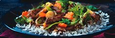 Beef Teriyaki Stir Fry Recipe from The Healthy Kitchen Roast Beef Recipes, Stir Fry Recipes, Side Recipes, New Recipes, Dinner Recipes, Cooking Recipes, Favorite Recipes, Skillet Recipes, Lamb Recipes