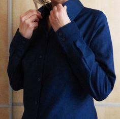 Patron de camisa básica para mujer en formato pdf descarga | Etsy Men Sweater, Coat, Sweaters, Jackets, Etsy, Fashion, Templates, Shirt Patterns, Crisp White Shirt
