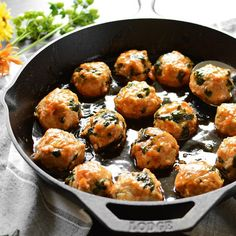 How amazing do these look?? Sweet Potato Chicken Meatballs from Simple Seasonal