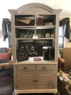 Coffee Bars In Kitchen, Coffee Bar Home, Coffe Bar, Refurbished Furniture, Furniture Makeover, Bar Furniture, Coffee Bar Station, Coffee Station Kitchen, Home Coffee Stations
