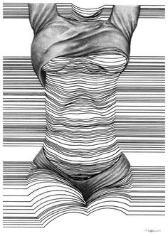 Sensual Line Art by Nester Formentera Line Drawing, Painting & Drawing, Illustrations, Illustration Art, Art Sketches, Art Drawings, Drawn Art, Art Watercolor, Art Plastique