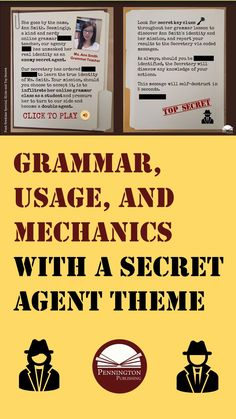 aIN't no gramar rule that sezs gramar cant be fuN. Twice weekly lessons, scripted, no prep. Diagnostic assessments and corresponding worksheets. Google slides or print options with a secret agent theme. Grades 4, 5, 6, 7, 8, and high school for instructional continuity.