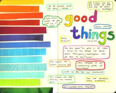 'good things' visual journaling by tisdagsregn on flickr