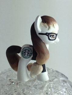 My Little Pony Friendship Is Magic Custom Pony Starbucks Barista Pony   eBay