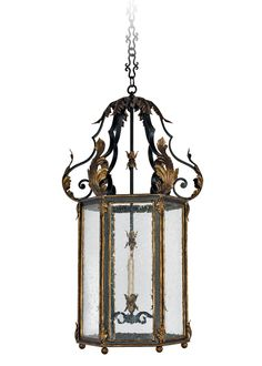 Piece | French Hanging Lantern | Woodland Balanced Beige, French Farmhouse, French Country, Metal Texture, Drip Painting, Wood Lamps, Hanging Lanterns, Lantern Pendant, Glass Panels