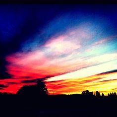 Sunrise in Petaluma, CA. Starting work at 4:00am has it's perks.