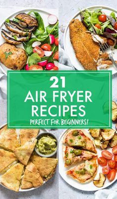 This collection of the 21 Best Air Fryer Recipes For Beginners includes main dishes, snacks, sides and sweets that are super quick, simple and easy to make. Air Fryer Recipes Snacks, Air Fryer Recipes Vegetarian, Air Fryer Recipes Breakfast, Air Fryer Dinner Recipes, Lunch Recipes, Cooking Recipes, Healthy Recipes, Cooking Tips, Food Tips