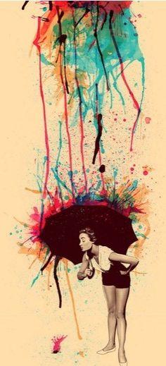 Color rain.