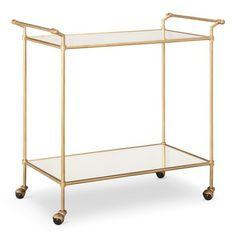 """Figure out even more relevant information on """"gold bar cart decor"""". Take a look at our web site. Gold Bar Cart, Bar Cart Decor, Metal Tree Wall Art, Low Shelves, Storage Shelves, Elegant Table, Bar Furniture, Home Look, My New Room"""