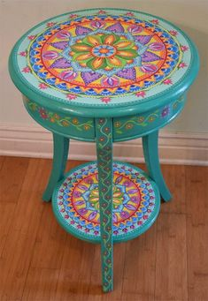 Painted furniture 2018 – Hand painted round accent table Painted Furniture, Boh… Painted furniture 2018 – Hand painted round accent table Painted Furniture, Boho Style Solid wood 26 inches Mandala… Pin: 474 x 686