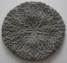 Ravelry: Cables & Lace Beret pattern by Michele Wang