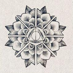 Amazing and beautiful Deathly Hallows mandala.