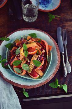 Smaki Alzacji : Marynowana sałatka z kolorowej marchwi