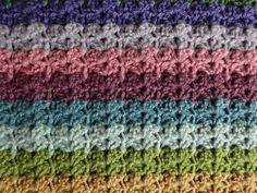 Stripe Blanket hydrangea crochet pattern--good for beginnershydrangea crochet pattern--good for beginners Striped Crochet Blanket, Easy Crochet Blanket, Crochet For Beginners Blanket, Crochet Blanket Patterns, Crochet Stitches, Knit Crochet, Crochet Afghans, Crochet Blankets, Irish Crochet