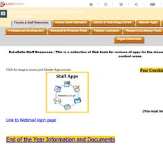 LiveBInder example for Teachers and Staff