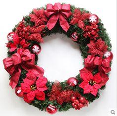 3 Size Door Window Decoration Christmas Wreath Santa Claus Gift Navidad Natal Christmas Item Christmas Decoration Xmas Garland