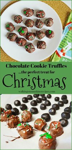 3 Ingredient Oreo Cookie Christmas Truffles from Walking on Sunshine Recipes.