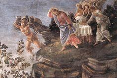 Sandro Botticelli, Three Temptations of Christ, 1481-82, fresco, 345 x 555 cm, Cappella Sistina, Vatican