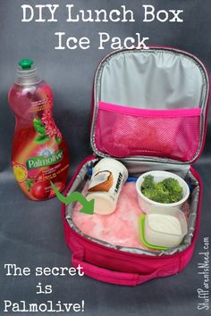 DIY Dish Soap Uses:Ice Pack for Lunch Boxes #Palmolive25Ways #shop