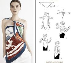 15 Tying Ways to Turn Scarf into Fashion Top | www.FabArtDIY.com LIKE Us on Facebook ==> https://www.facebook.com/FabArtDIY
