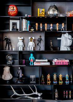 Inside Steve Aoki's Art-Filled Playhouse in Vegas - Artsy Bedroom Setup, Bedroom Decor, Home Room Design, House Design, Black Room Design, Hypebeast Room, Gamer Room, Aesthetic Room Decor, 3d Prints