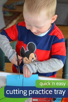 Learning to Cut - a quick and easy activity for beginning cutters!