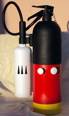 Mickey Mouse fire extinguisher. Previously sold thru Etsy, but a crafty person could try to DIY