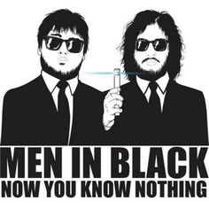 Sam and Jon. Man in black