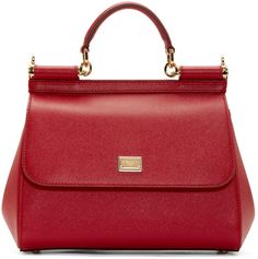 Dolce & Gabbana Red Medium Miss Sicily Bag