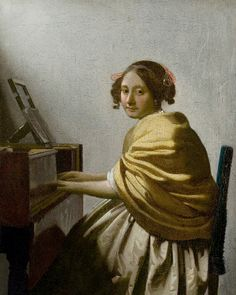 Johannes Vermeer - A Young Woman Seated At The Virginals.