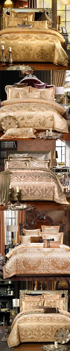 YADIDI 100% Cotton Golden Chinese Style Silk Bedding Set Home Classic Palace Bedclothes Queen King Super King Size Luxury