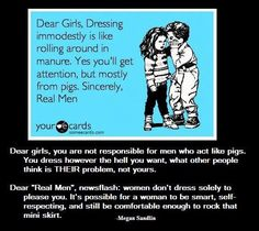 Crazy concept that a womens sole purpose in in life is not to provide men with something nice to look at