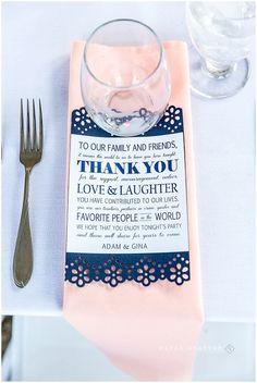 Nautical Theme Wedding Reception with Peach and Navy Blue.  Elberta Life Saving Station Reception | Wedding Harbor Lights Resort | Rayan Anastor Photography | Frankfort MI Northern Michigan Beach Wedding Venue