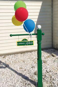 DIY Sesame Street lamp post pole