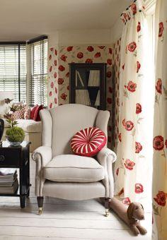Freshford Floral Red Wallpaper | Laura Ashley USA