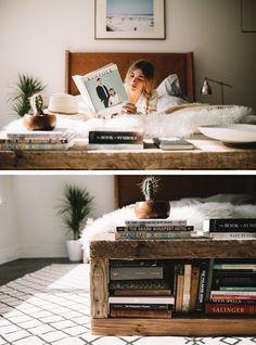 UO DIY: Reclaimed Book Bench