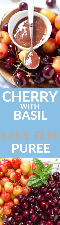 A fresh baby food puree that has all the taste of summer! Can use fresh or frozen cherries in this delicious puree.